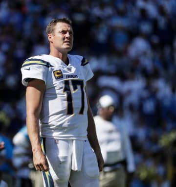 Los Angeles Chargers quarterback Philip Rivers (17) on the field at Dignity Health Sports Park in Carson, Calif., on Sept. 8, 2019. - Robert Gauthier/Los Angeles Times/TNS