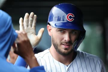 Chicago Cubs third baseman Kris Bryant celebrates after hitting a two-run home run against the Cincinnati Reds on May 24, 2019. - John J. Kim/Chicago Tribune/TNS