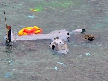 2016年12月に名護市安部沿岸で大破したオスプレイ