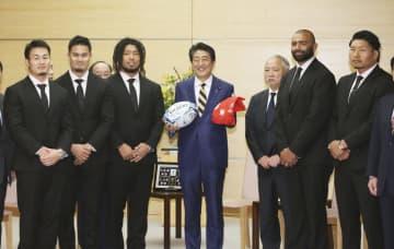 首相、ラグビー日本代表を称賛