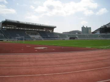 試合会場となった釜山九徳スタジアム
