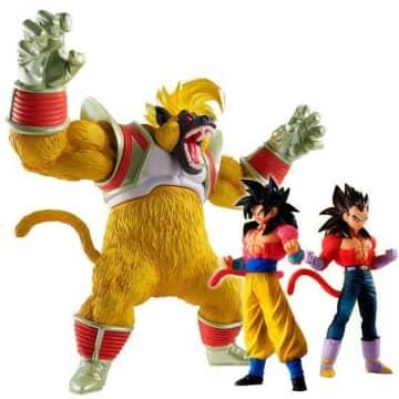 「ドラゴンボールGT」大猿ベビーの超巨体出現!超サイヤ人4孫悟空&ベジータとフィギュア化
