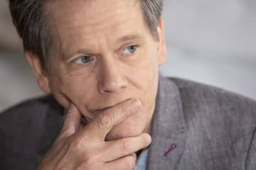 """Kevin Bacon is photographed as he promotes the TV series """"City on a Hill"""" in New York. Bacon will be in a guest role on an upcoming """"All in the Family"""" on ABC. - Armando Gallo/Zuma Press/TNS"""