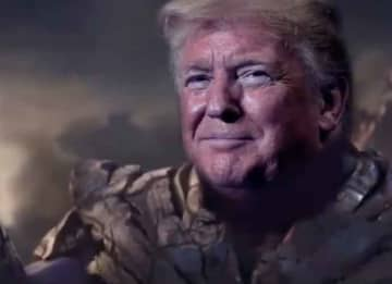 Donald Trump Appears As 'Avengers' Thanos In Re-Election Campaign Video: 'I'm Inevitable'