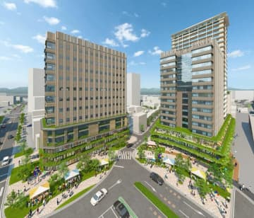 東京建物が準備組合に提示した再開発後のイメージ図(東京建物提供)