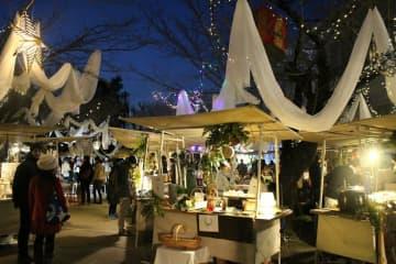 フランス会場で2017年に開かれたクリスマスイベントの様子(京都市左京区)=アンスティチュ・フランセ関西提供