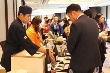 常陽銀行は、単独で海外初のイベントを香港で開催した=12日、尖沙咀東(NNA撮影)