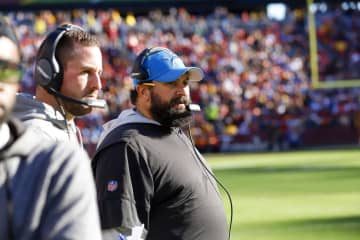 Detroit Lions head coach Matt Patricia during the first half against the Washington Redskins on Sunday, Nov. 24, 2019 at FedExField in Landover, Md. - Darryl Smith/TNS/TNS
