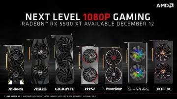 AMD「Radeon RX 5500 XT」を発表、最大8GB RAMで競合製品を13%上回る性能を発揮