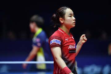 伊藤美誠、準々決勝に進出 卓球グランドファイナル