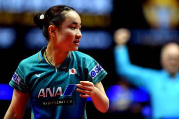 伊藤美誠、準決勝に進出 卓球グランドファイナル