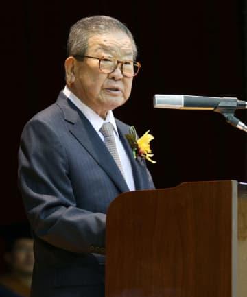 韓国LGグループの具滋ギョン名誉会長(聯合=共同)
