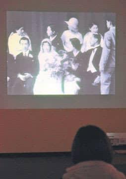 県立歴史館で公開している一橋徳川家のホームムービー=水戸市緑町