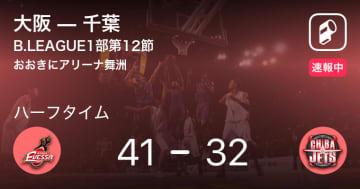 【速報中】大阪vs千葉は、大阪が9点リードで前半を折り返す