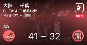 【速報中】2Q終了し大阪が千葉に9点リード
