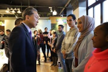 鳩山元首相、北京のシルクロード都市連盟を訪問