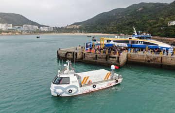 中国の自律航行貨物船「筋斗雲0号」、珠海で初の試験航海
