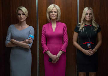 """Charlize Theron, Nicole Kidman, and Margot Robbie in """"Bombshell."""" - Lionsgate/TNS/TNS"""