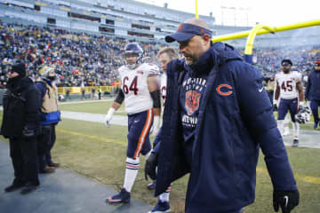 Chicago Bears head coach Matt Nagy walks off the field after a loss against the Green Bay Packers at Lambeau Field in Green Bay, Wis., on Sunday, Dec. 15, 2019. - Jose M. Osorio/Chicago Tribune/TNS