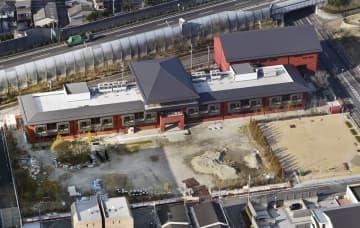 森友学園が小学校建設を目指していた大阪府豊中市の土地=2018年3月