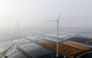 高さ152mの風力発電ユニット、グリッド接続を開始 江蘇省揚州市