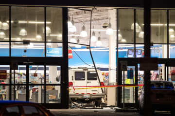 A van crashed into a Ross store in Burien injuring multiple people on Dec. 16, 2019. - Andy Bao/Seattle Times/TNS