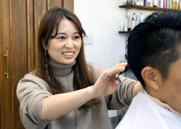 美容室を営む妹の平田智子さん