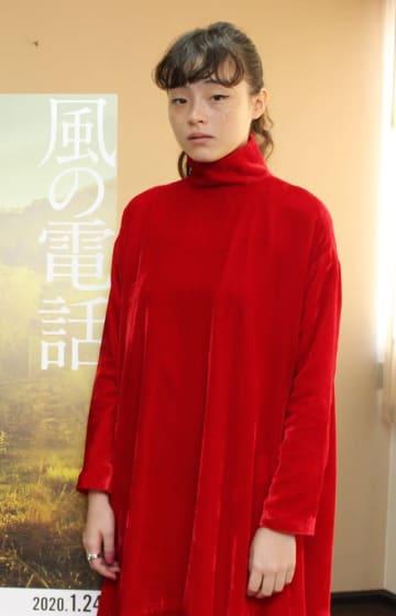 「風の電話」に主演したモトーラ世理奈=大阪市内