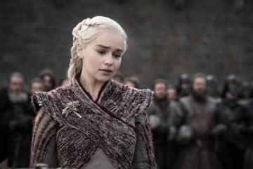 "Emilia Clarke as Daenerys Targaryen in HBO's ""Game of Thrones."" - Helen Sloane/HBO/TNS/TNS"