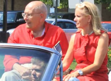 Rep. John Dingell and wife Debbie Dingell