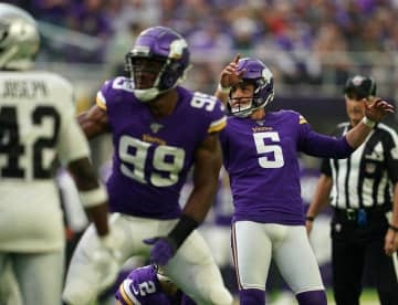 Dan Bailey (5) is among the Vikings who might receive an incentive payout. - Anthony Souffle/Minneapolis Star Tribune/TNS