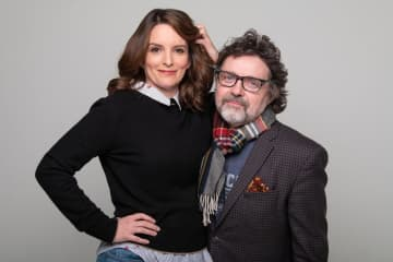 "Tina Fey with her husband Jeff Richmond in New York in December. Fey wrote the 2004 movie and the 2018 Broadway musical ""Mean Girls,"" now on national tour, and Richmond wrote the musical's music. - Barry Williams/Chicago Tribune/TNS"