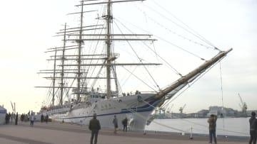 一般公開された世界最大級の練習帆船「日本丸」
