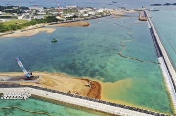 沖縄県名護市辺野古の沿岸部=2019年12月