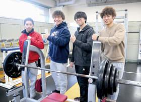 全道大会で活躍した(右から)市島、澤田、福田、上野山