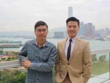 Au Nok-hin and Gary Fan. Photo: inmediahk.net.