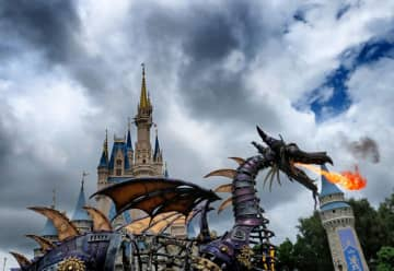 The Maleficent float will be joined by other evil characters during the Cursed Caravan, a new part of Villains After Hours at Magic Kingdom in 2020. - Joe Burbank/Orlando Sentinel/TNS