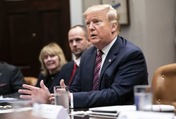 President Donald Trump participates in a roundtable on small business and red tape reduction, at the White House in Washington, DC on Friday, December 6, 2019. - Kevin Dietsch/Sipa USA/TNS