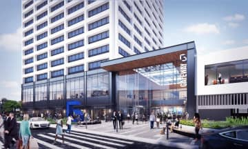 Renderings of the jewel box at the Gateway 1 building. (Courtesy: Gensler /)