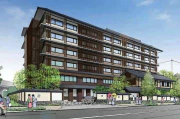 中央倉庫が倉庫跡地に建設を計画する宿泊施設の完成予想図