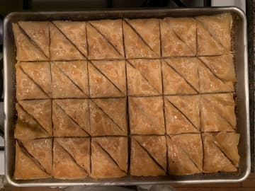 A tray of homemade baklava from the kitchen of Inquirer columnist Maria Panaritis in December 2019. - MARIA PANARITIS/The Philadelphia Inquirer/TNS