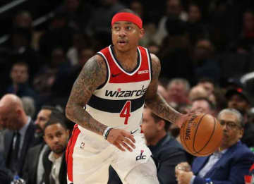 WASHINGTON, DC - DECEMBER 03: Isaiah Thomas #4 of the Washington Wizards in action against the Orlando Magic during the second half at Capital One Arena on December 3, 2019 in Washington, DC.