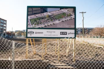 Land on Coles Street between 16th and 18th streets in Jersey City is the site of the future Coles Street Park. (Reena Sibayan/)