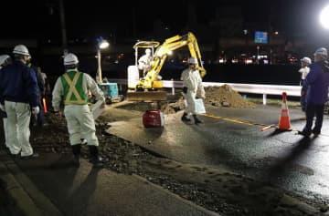 長崎で水道管破損 城山地区の一部断水