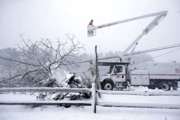 Legislation is sitting on the governor's desk that would let utility companies clear vegetation around utility poles. (File /)