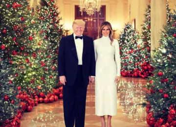 Donald & Melania Trump Unveil Official White House Christmas Portraits