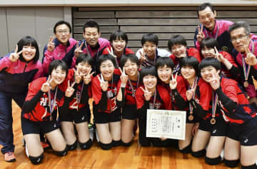 3位入賞した福井県選抜女子=大阪市の丸善インテックアリーナ大阪