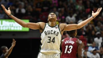 Bucks forward Giannis Antetokounmpo stands as an East road block to the Heat and rest of the conference. - Michael Laughlin / Sun Sentinel/South Florida Sun Sentinel/TNS