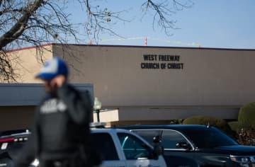 発砲事件があったテキサス州フォートワース郊外の教会=29日、ホワイトセトルメント(ダラス・モーニングニューズ、AP=共同)