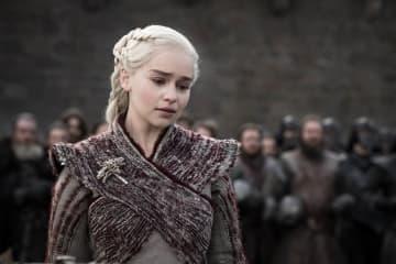 "Emilia Clarke as Daenerys Targaryen in HBO's ""Game of Thrones."" - Helen Sloane/HBO/TNS"